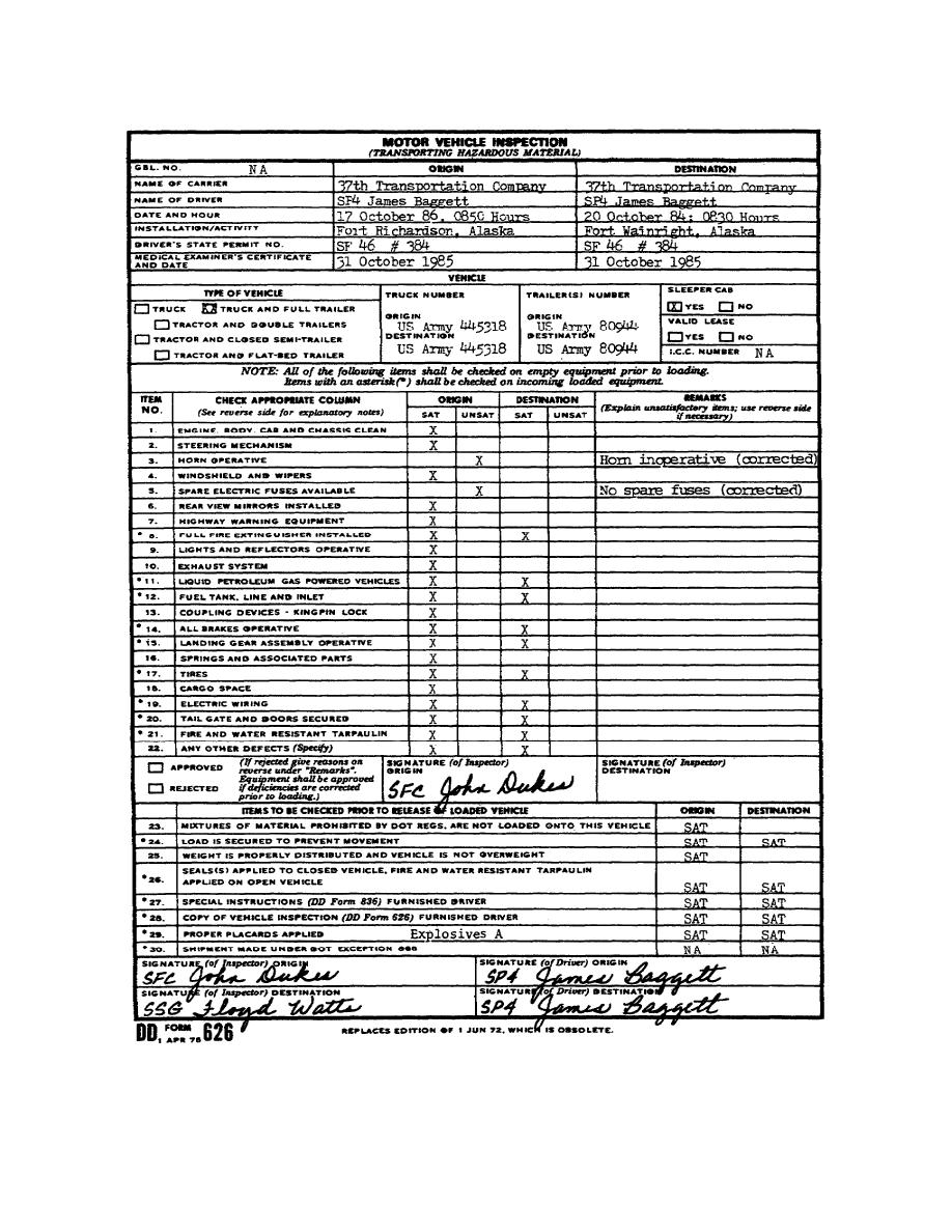 Motor Vehicle Inspection Form Vehicle Ideas